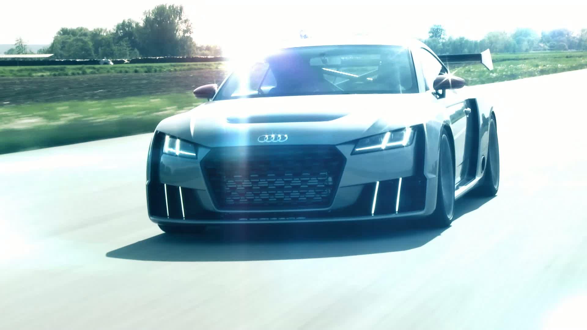 Enormer Schub vom Start weg: die Technikstudie Audi TT clubsport turbo