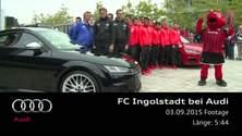FC Ingolstadt zu Gast bei Audi - Footage