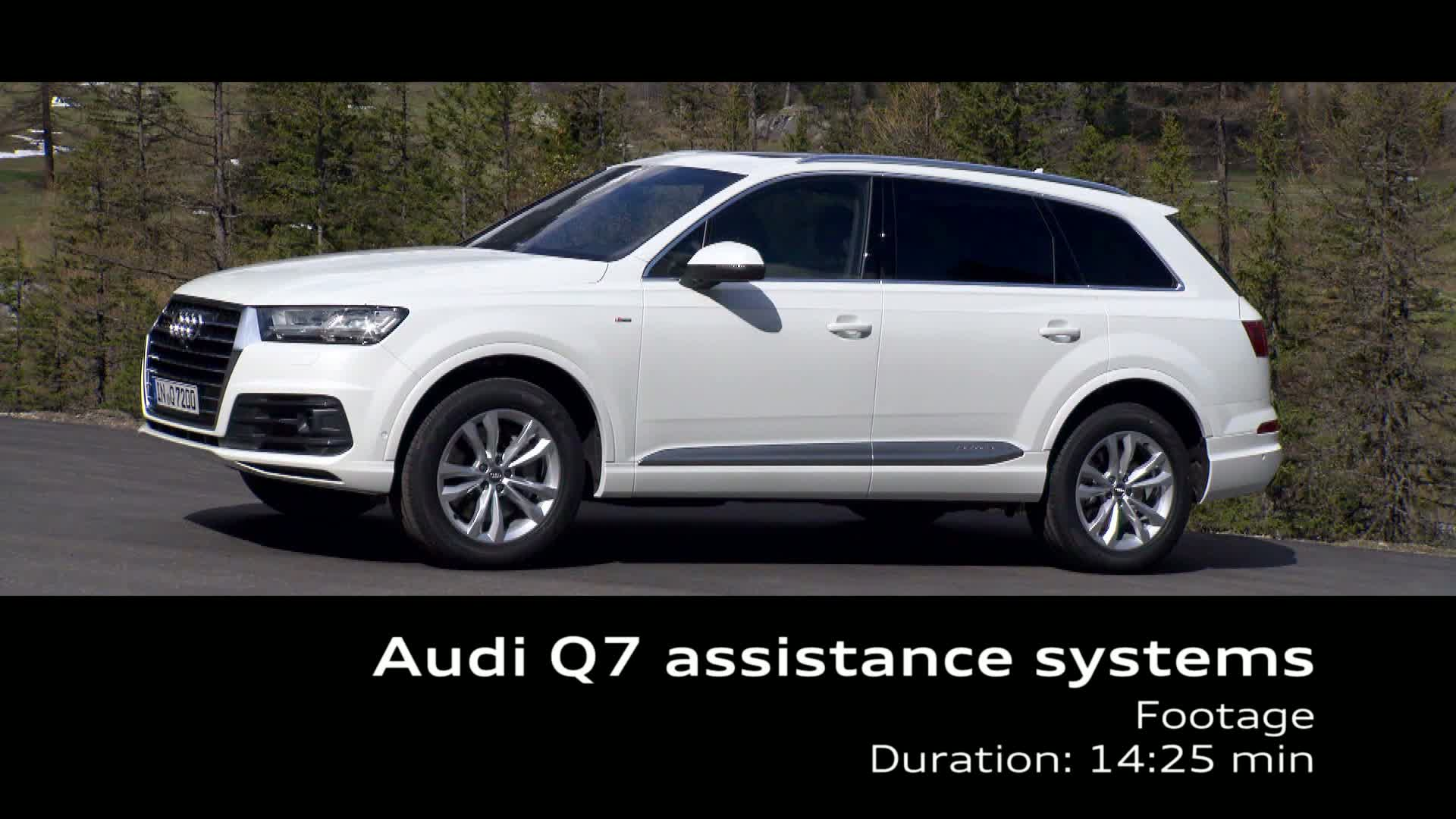 Audi Q7 - Footage driver assistance systems