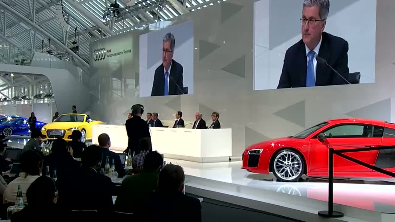 Annual Press Conference 2015 of the AUDI AG