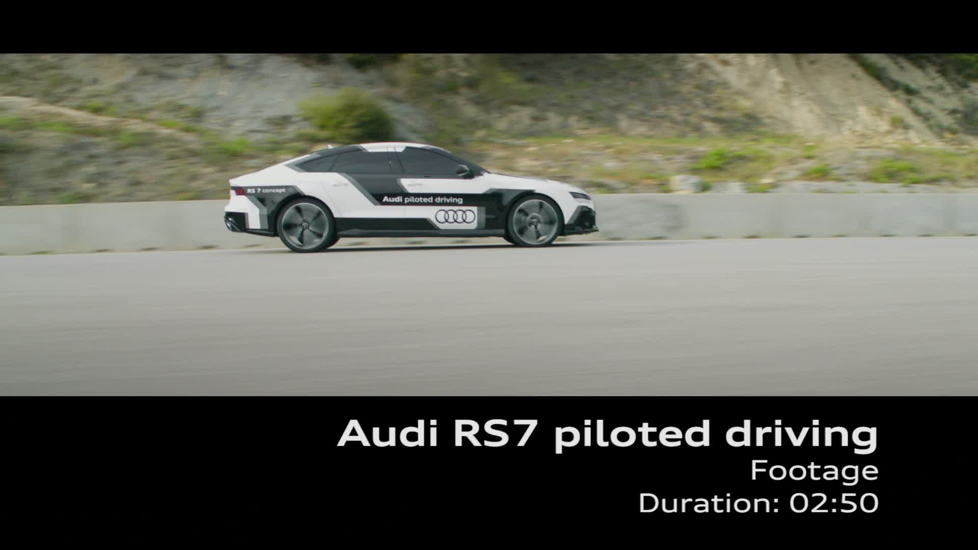Audi RS 7 piloted driving concept - Footage Barcelona