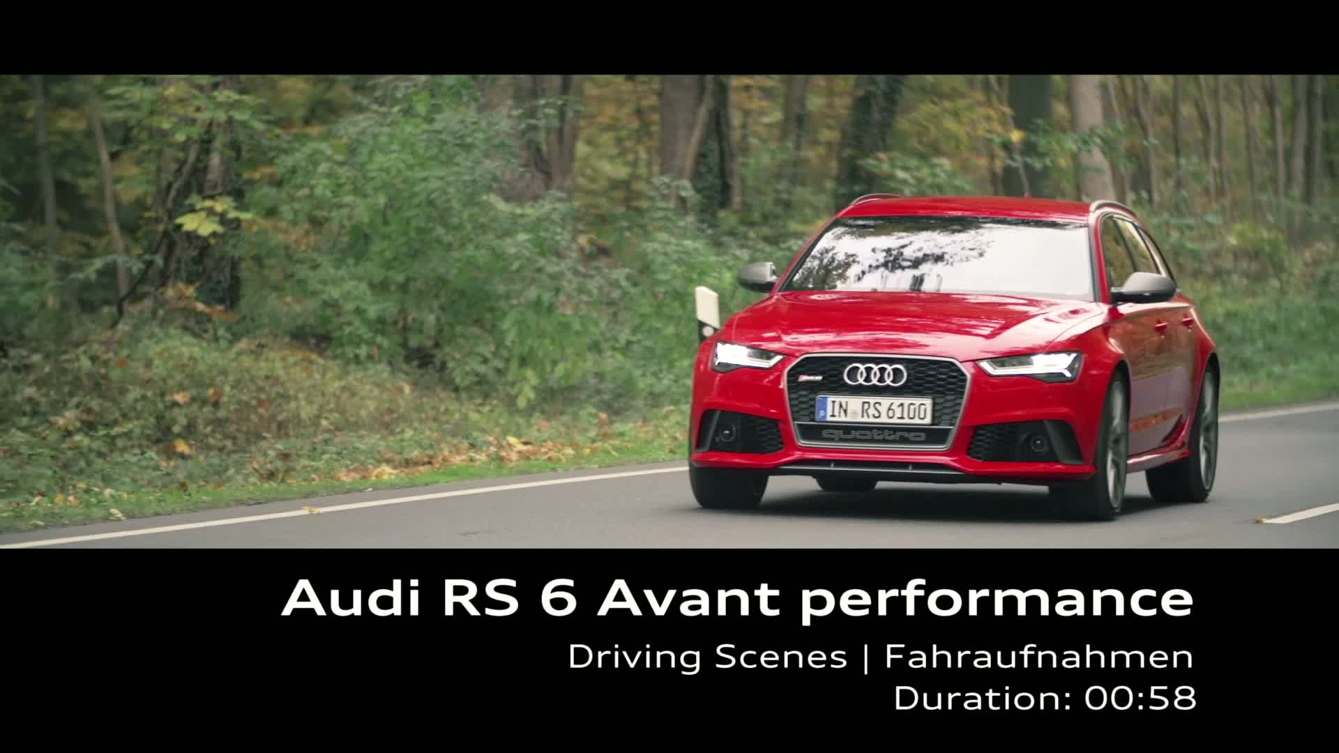 Audi RS 6 Avant performance - Footage