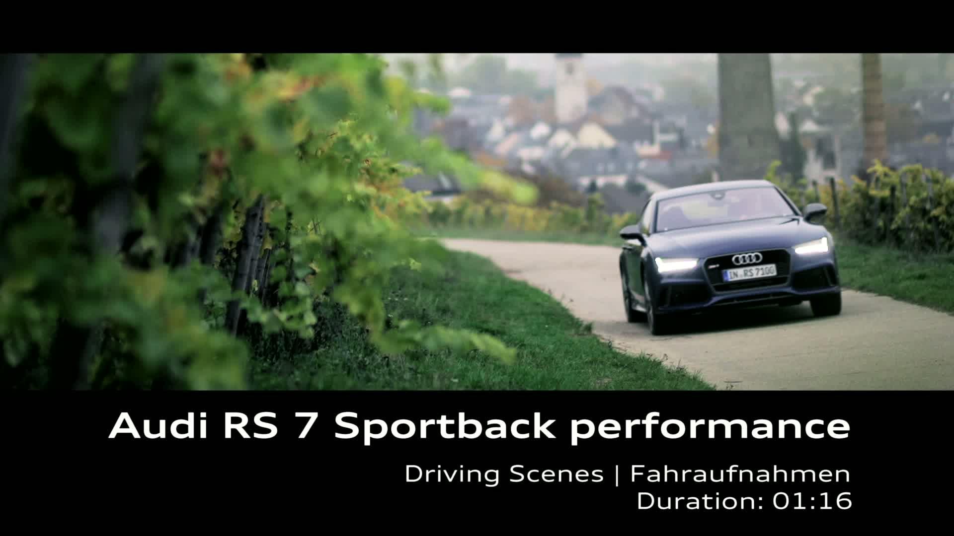 Audi RS 7 Sportback performance - Footage