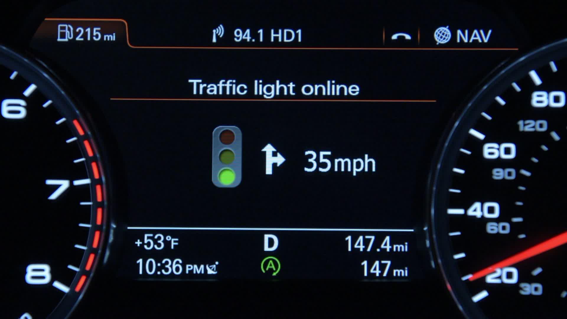 Audi connect - Ampelinfo online