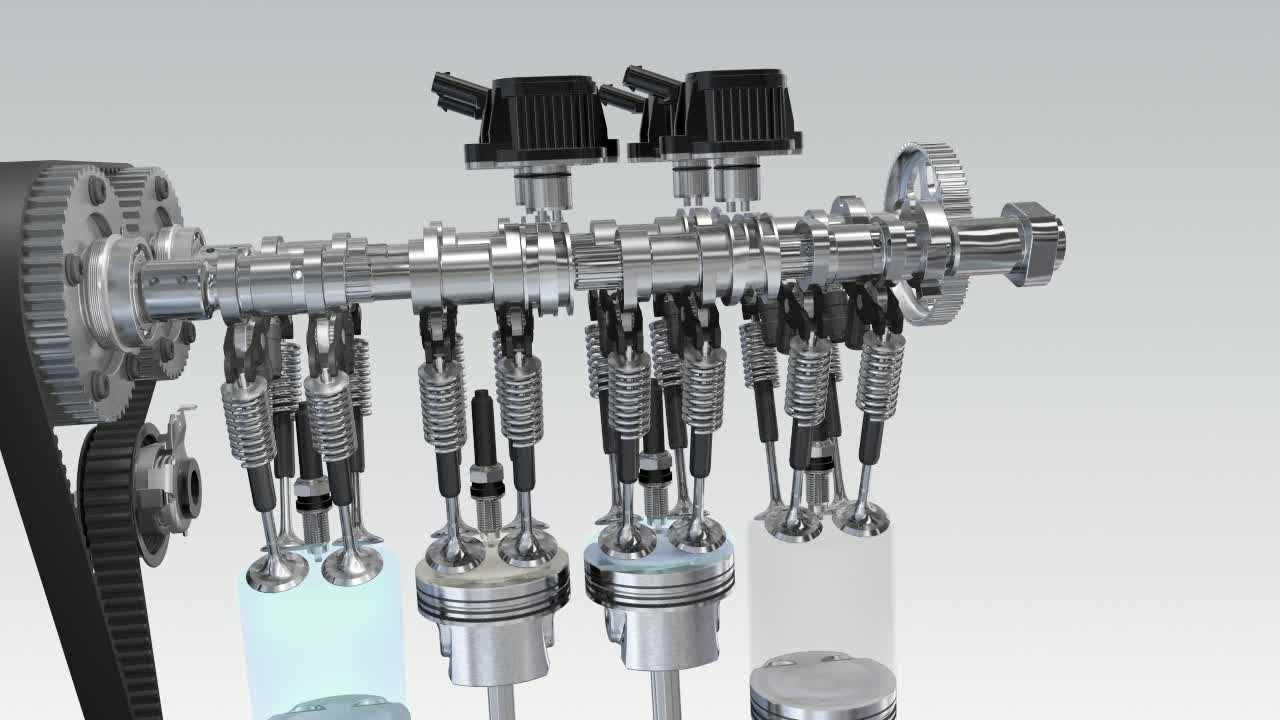 Audi Q3 - Animation cylinder on demand