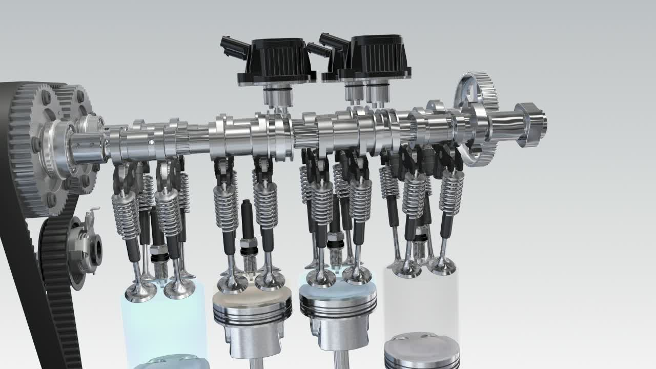 Audi Q3 - Cylinder on demand Animation
