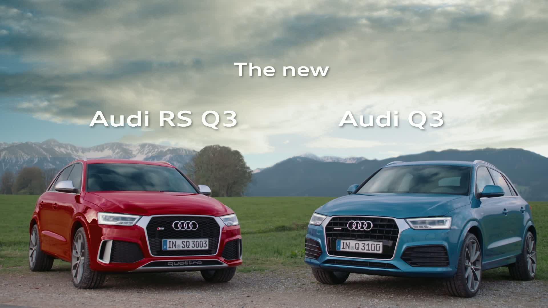 Die neuen Audi Q3 und RS Q3 - Trailer