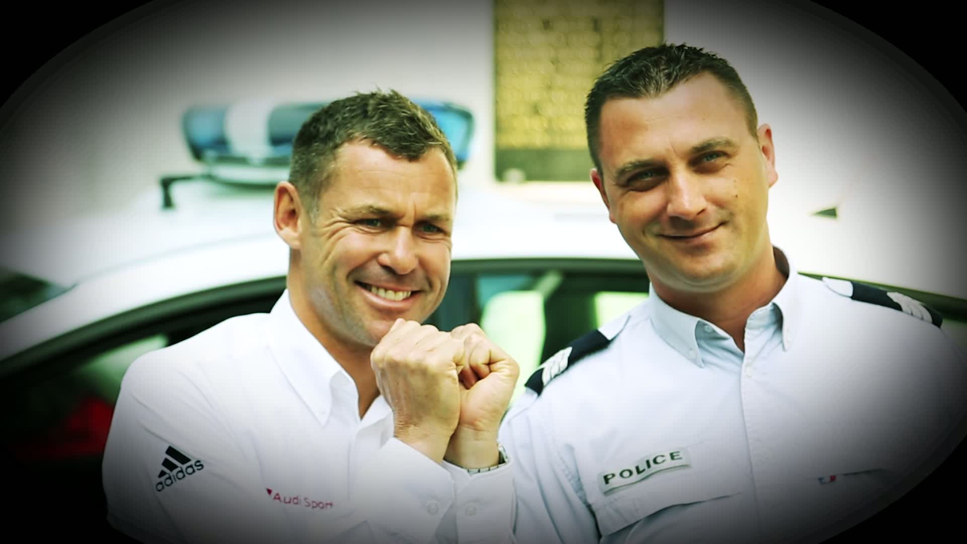 60 Seconds of Audi Sport 36/2015 - Tom Kristensen visits Police in Le Mans
