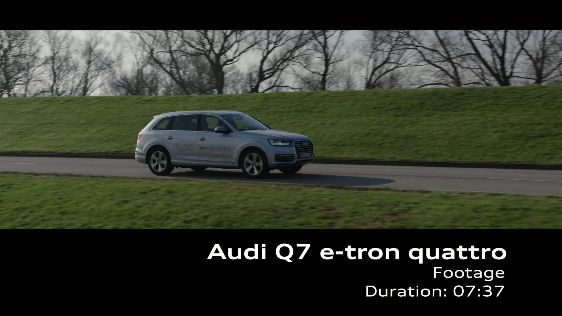 The Audi Q7 e-tron 3.0 TDI quattro - Footage