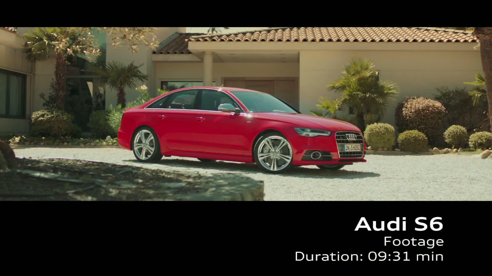 Der Audi S6 - Footage