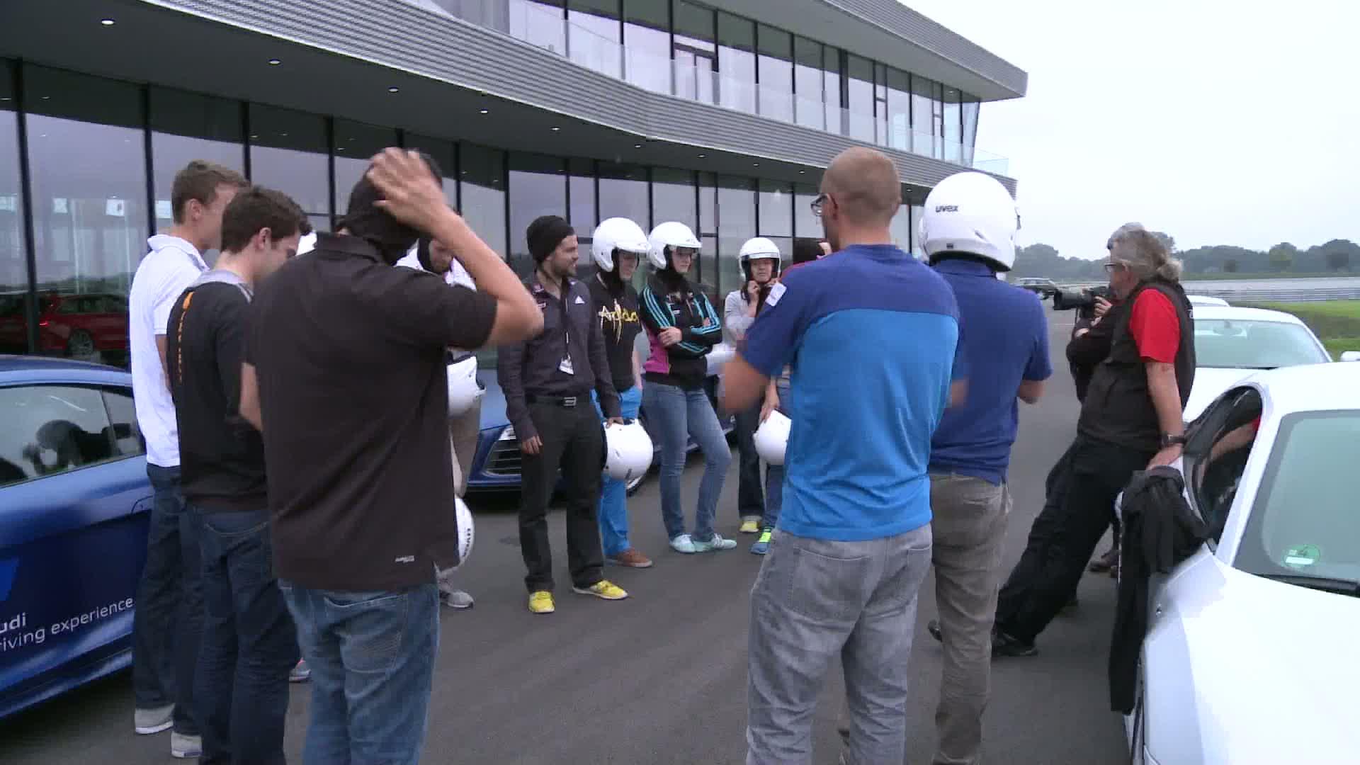 Audi driving experience mit deutschen Skicrossern