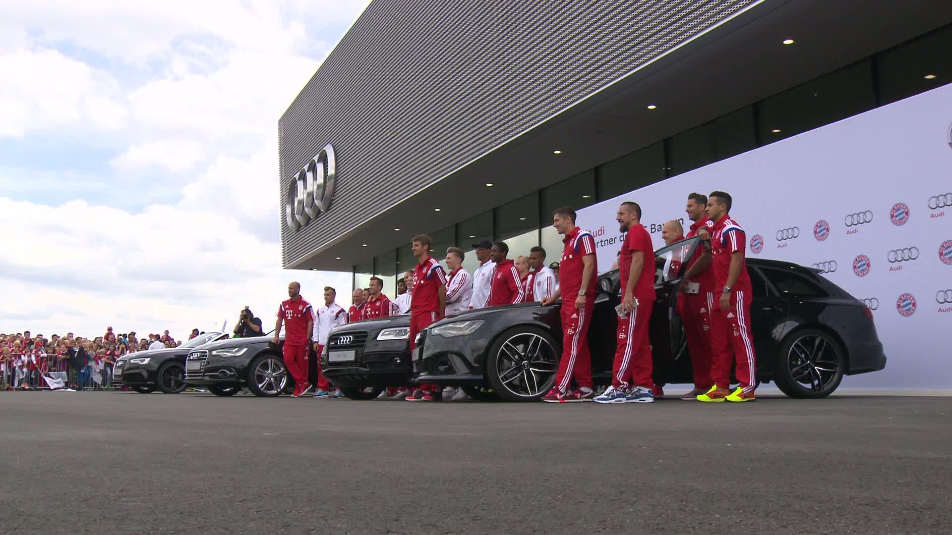 Fahrerlebnistag und Autoübergabe für FC Bayern München in Neuburg