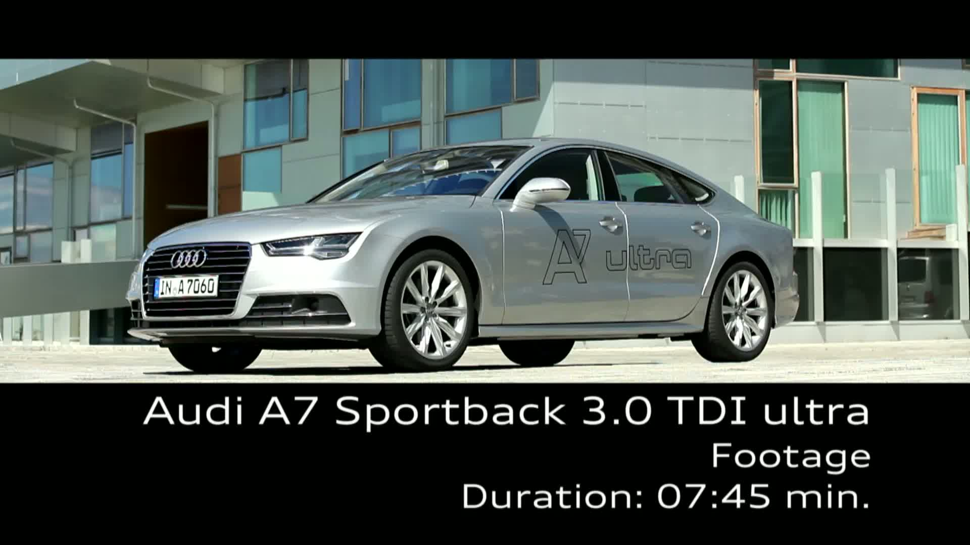 Der Audi A7 Sportback TDI ultra - Footage