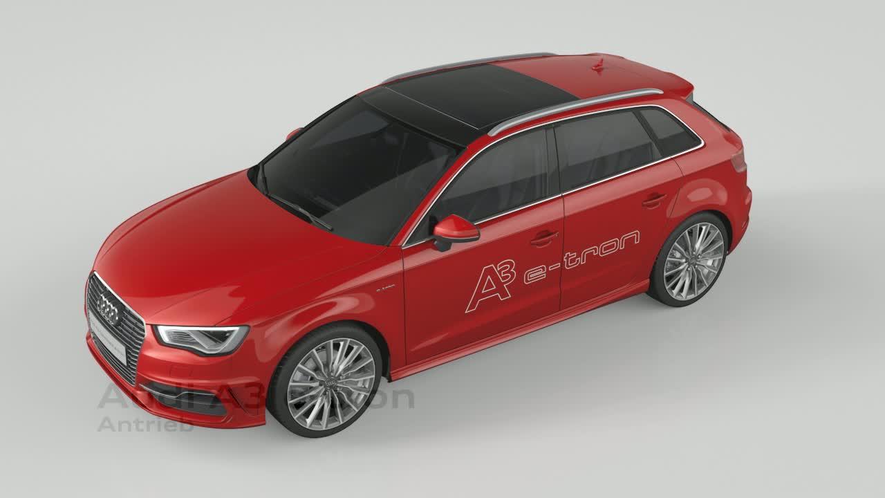 Audi A3 Sportback e-tron - Animation