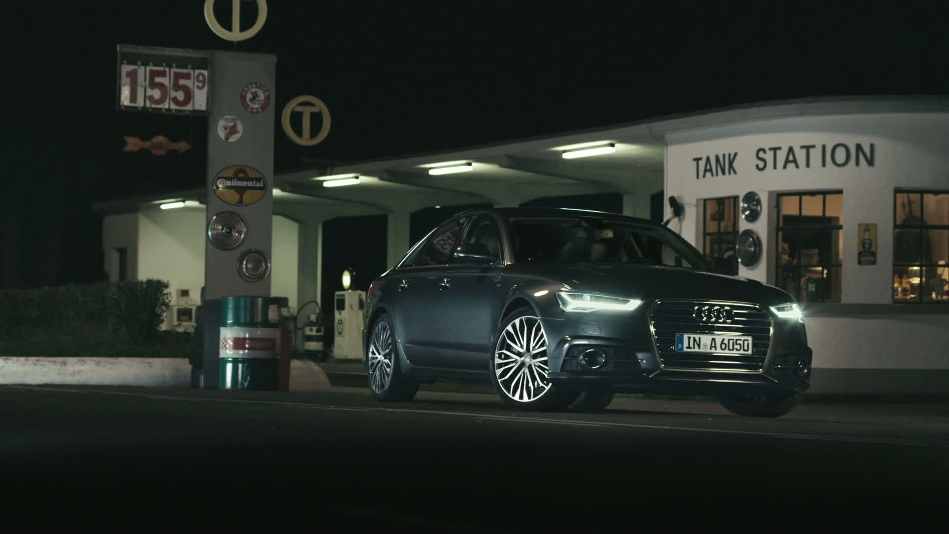 Showdown at the gas station: The Audi A6 ultra