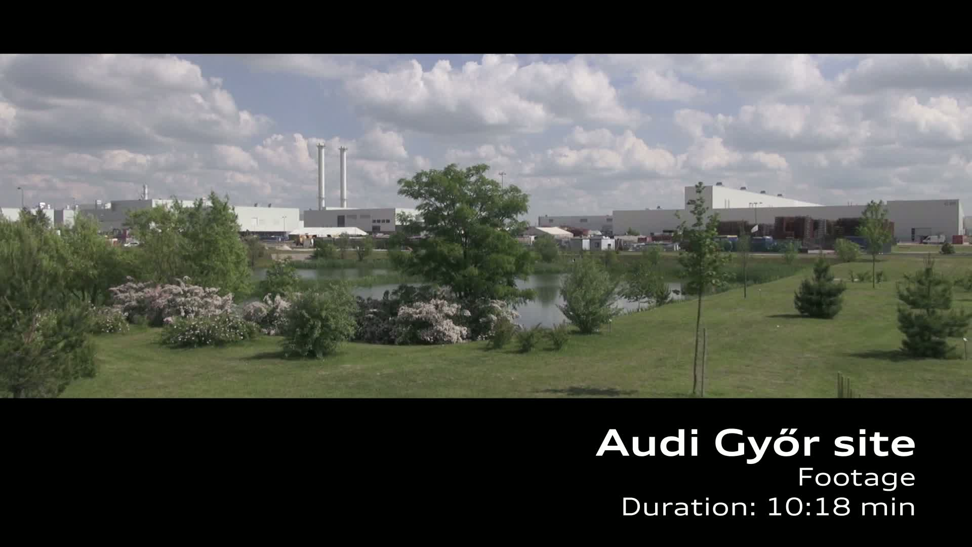 Audi site in Gyoer - Production A3 Limousine Footage