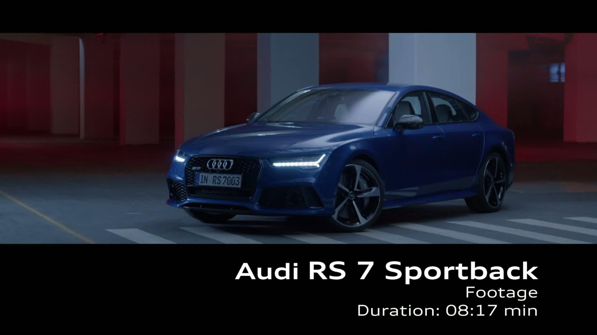 Noch eine Spur schärfer: der überarbeitete Audi RS 7 Sportback - Footage