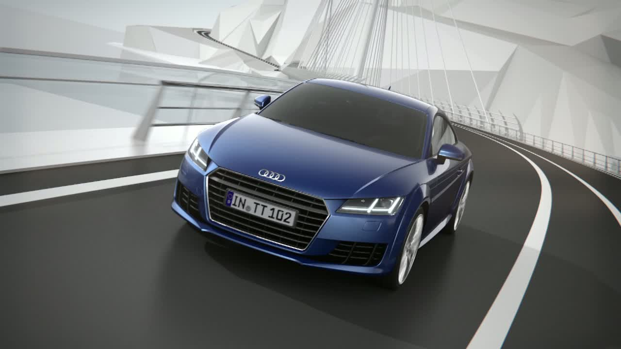 Audi TT quattro all-wheel drive animation