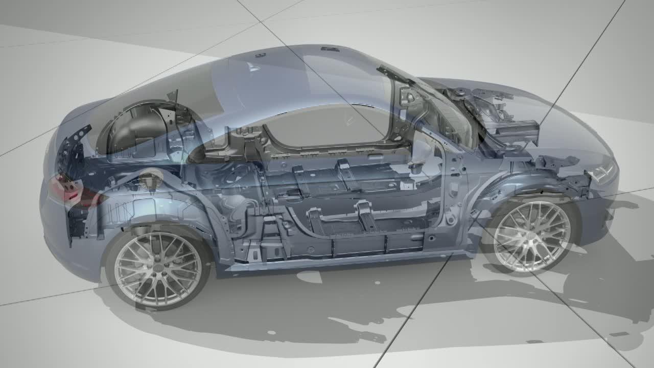 Audi TT Animation Karosserie / Leichtbau