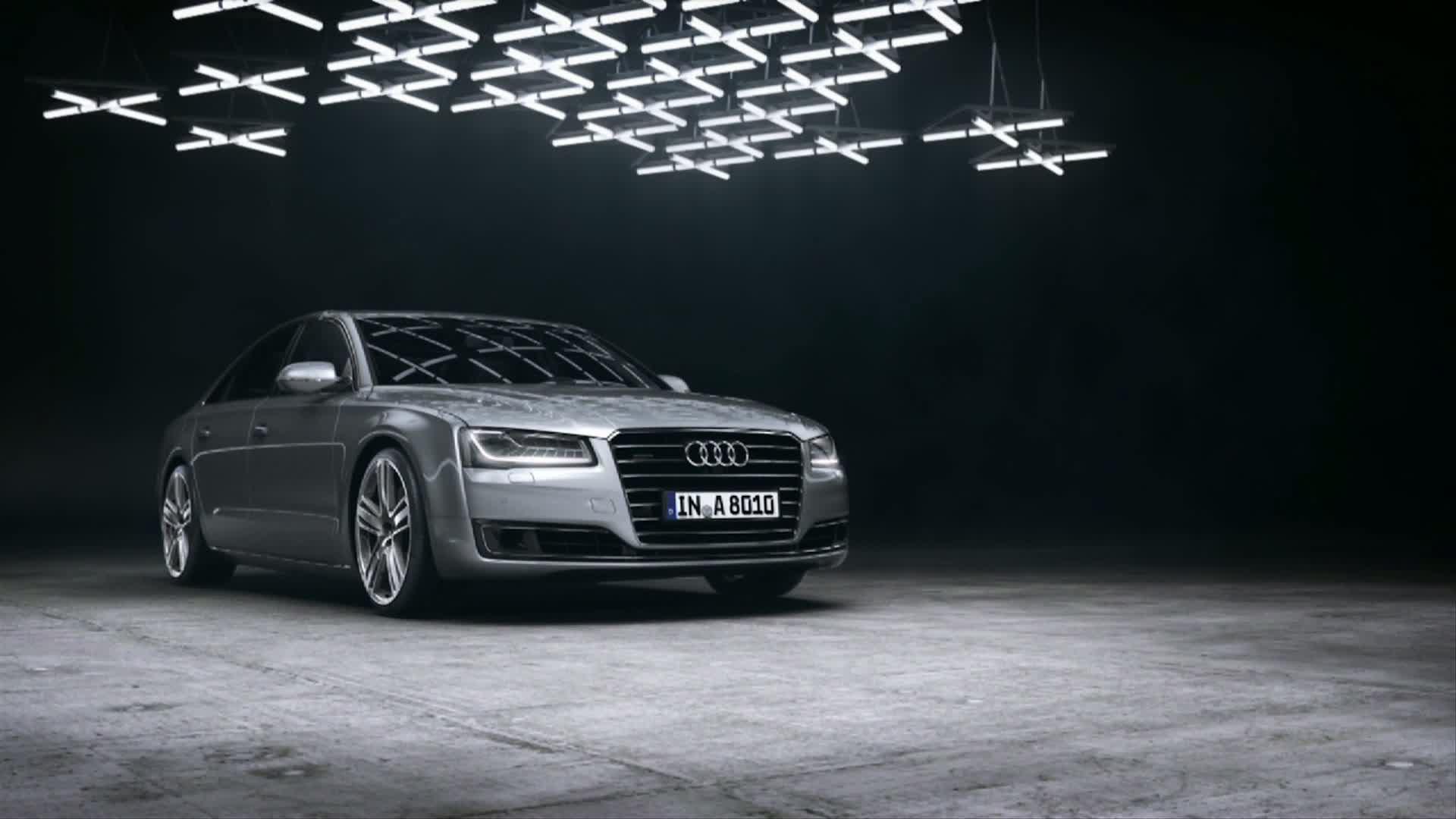 The Audi A8 with Matrix LED headlights