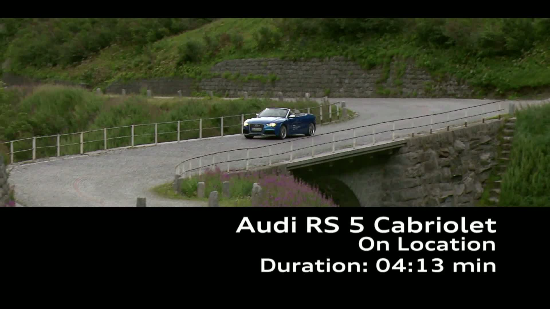 The Audi RS 5 Cabriolet Footage - Land of quattro Alpine Tour