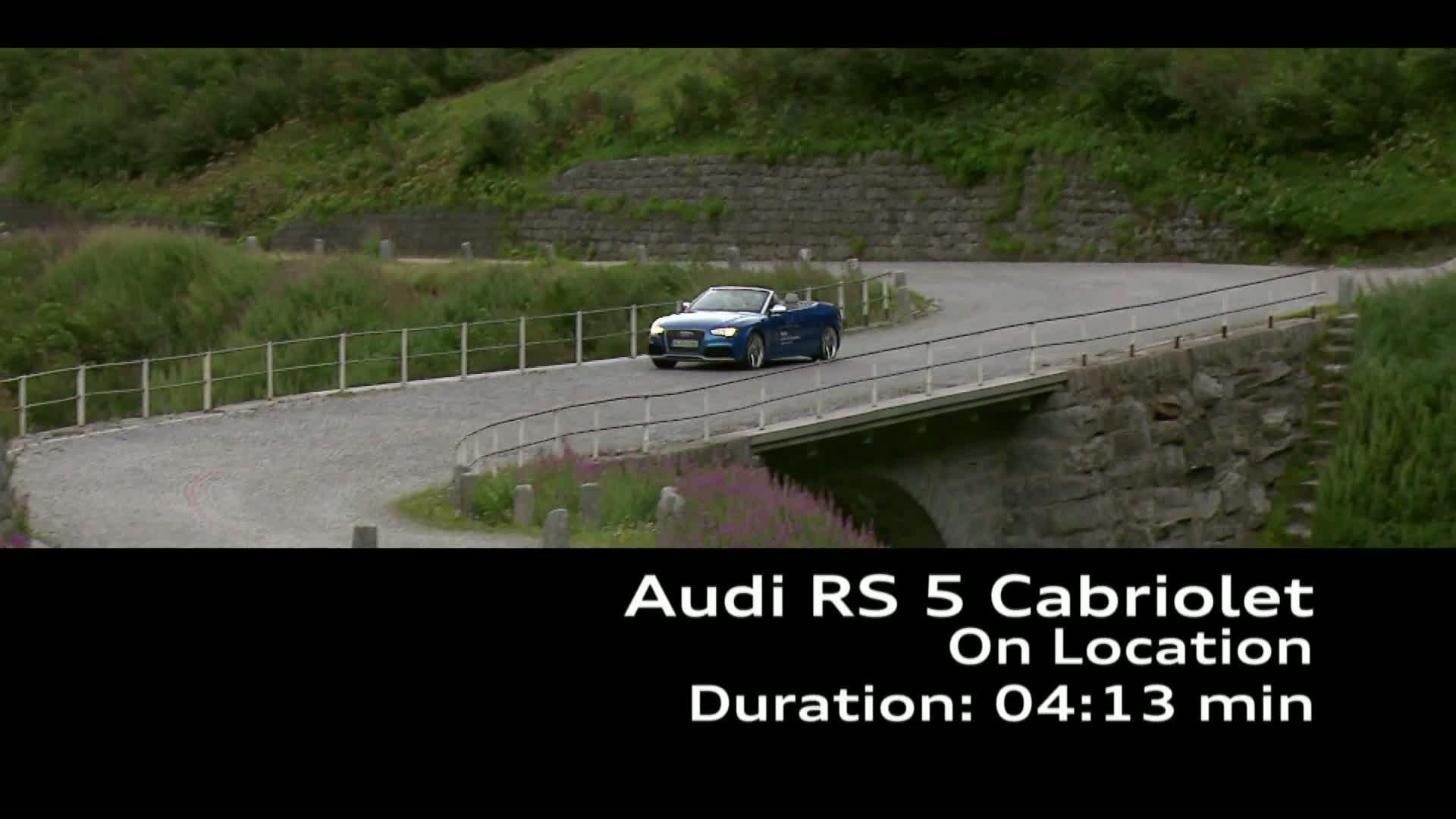 Das Audi RS 5 Cabriolet Footage - Land of quattro Alpen Tour