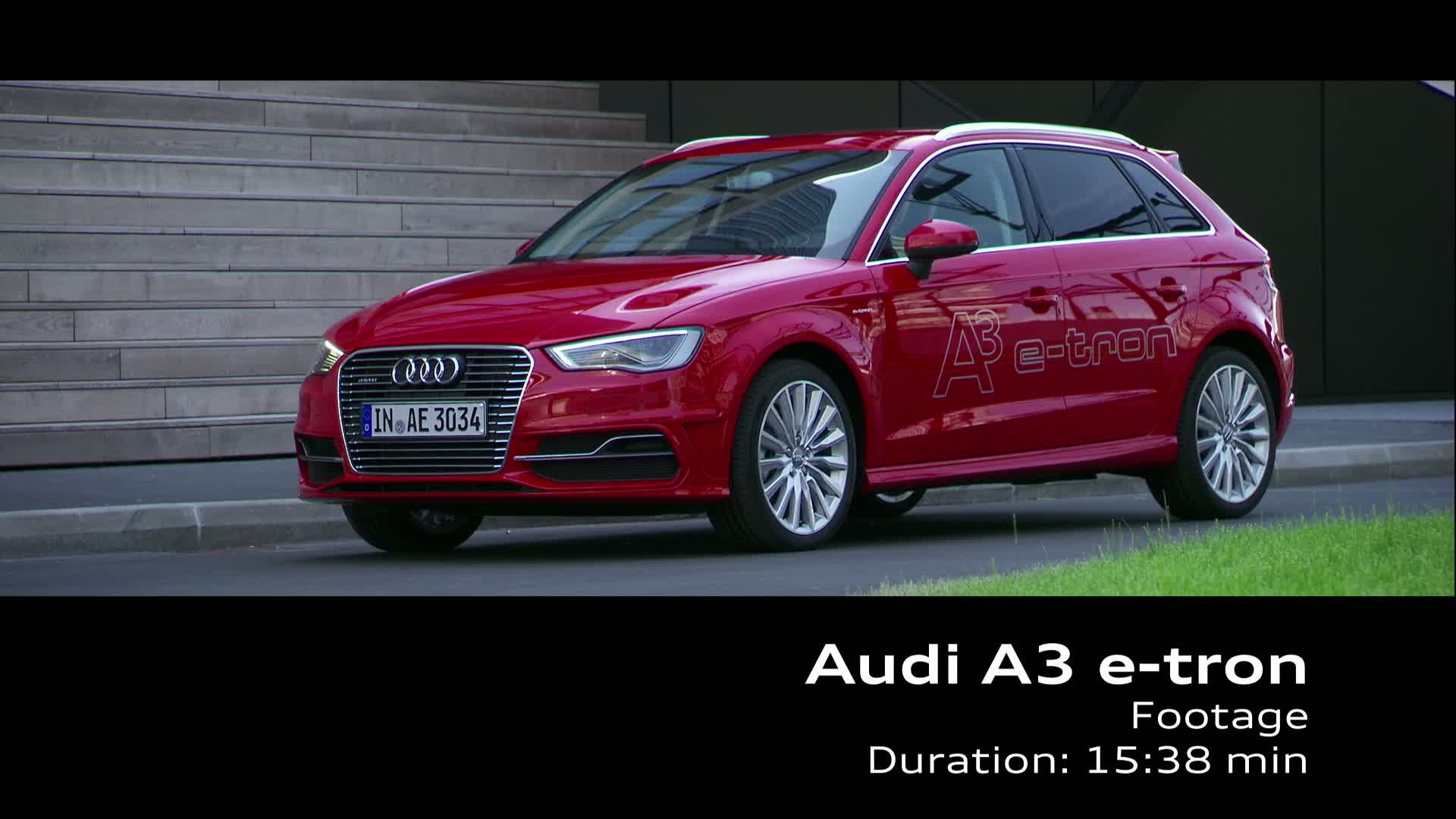 The Audi A3 Sportback e-tron - Footage