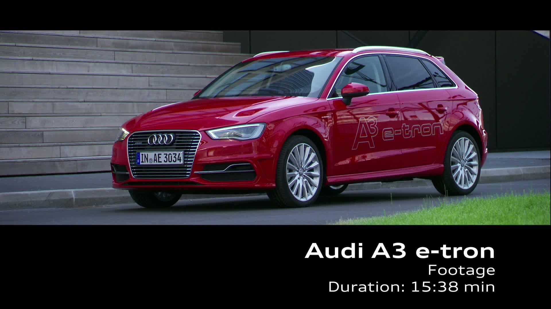 Der Audi A3 Sportback e-tron - Footage