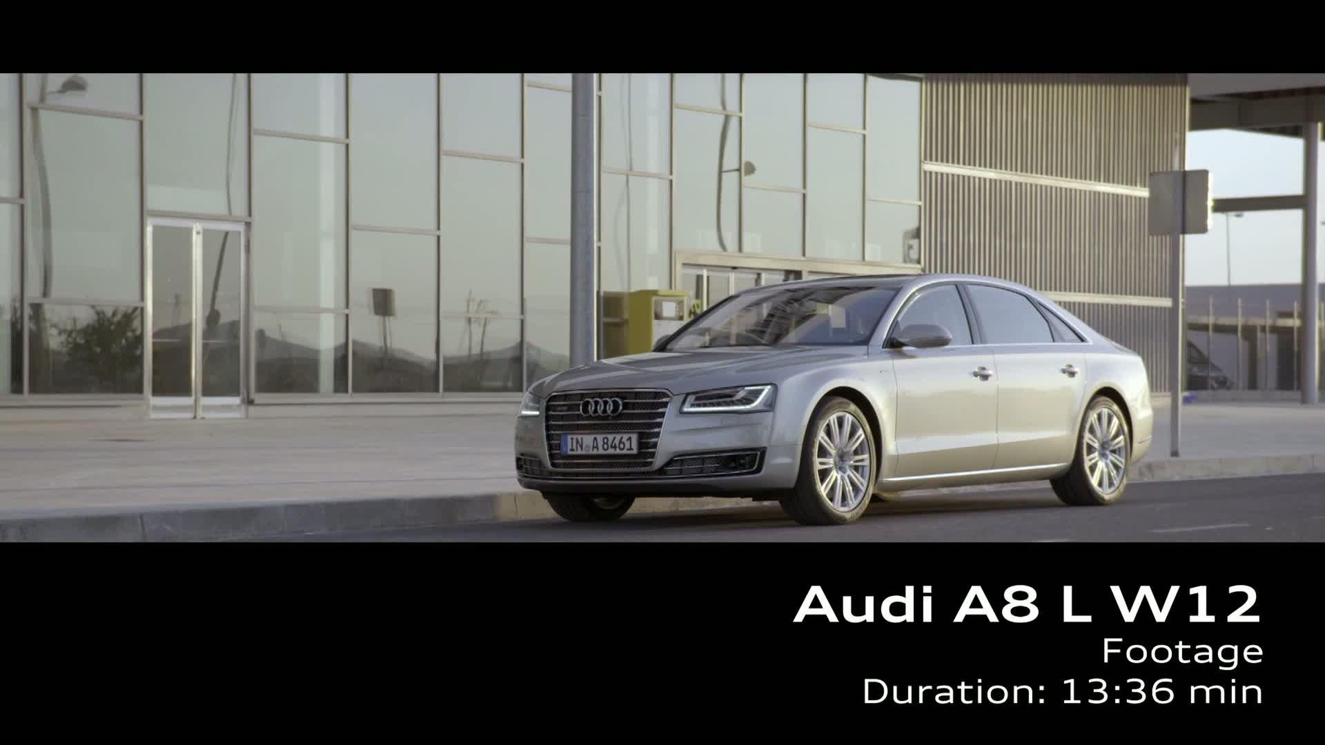 Der Audi A8 L W12 - Footage