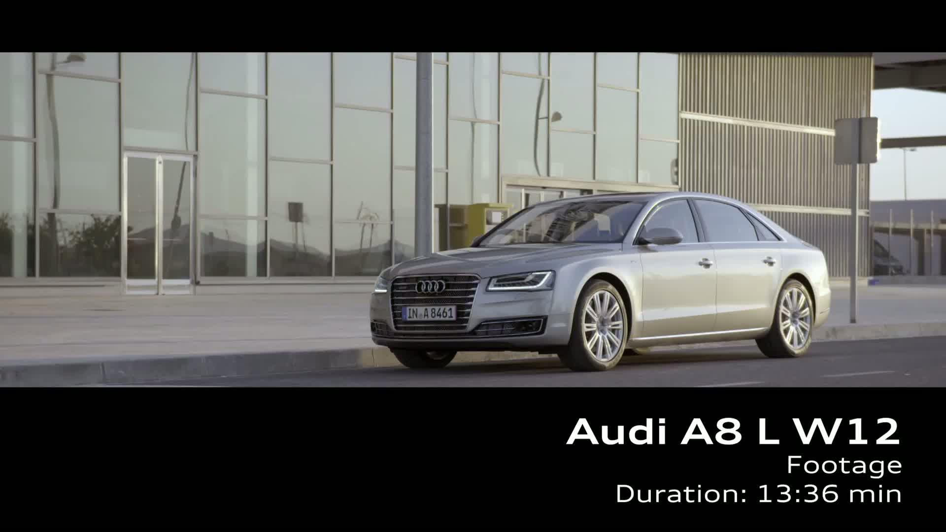 The Audi A8 L W12 - Footage
