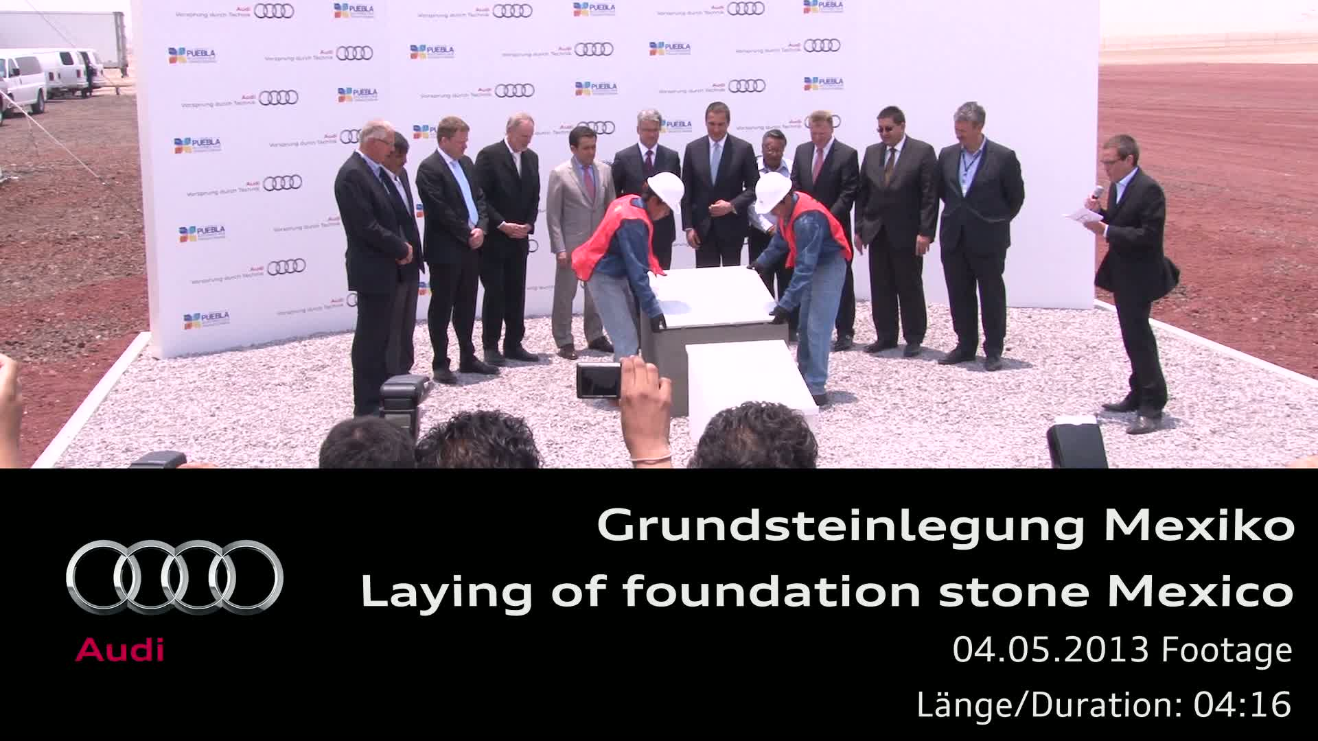 Laying of foundation stone for new plant in Mexico - Footage