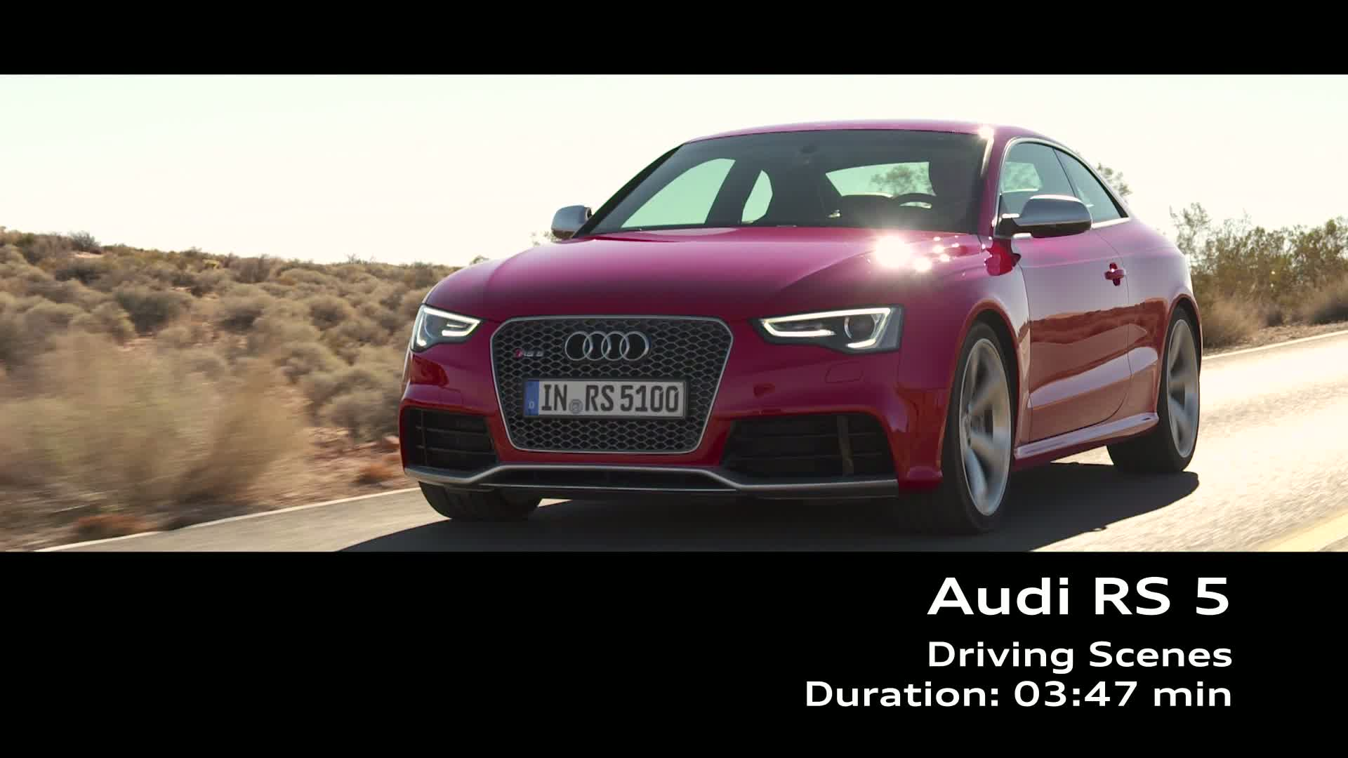 Der Audi RS 5 - Footage