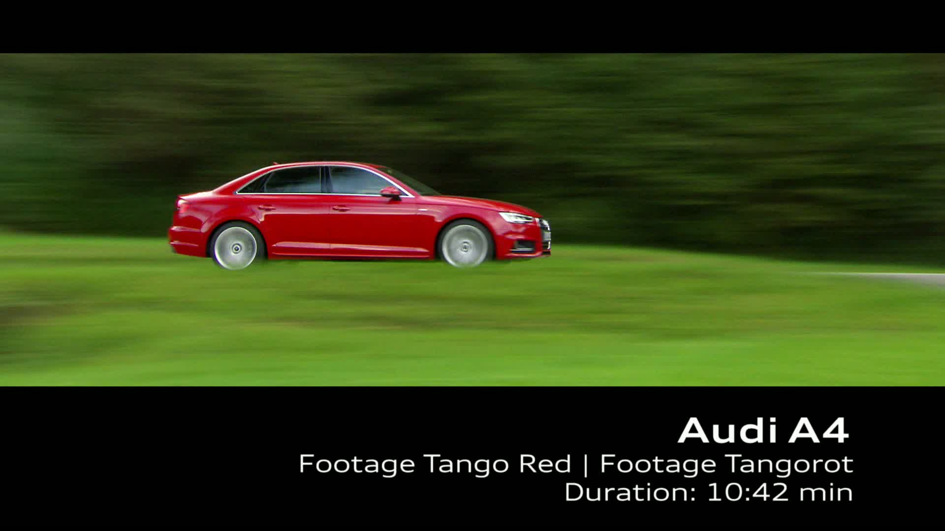 Audi A4 Sedan - Footage Tango Red