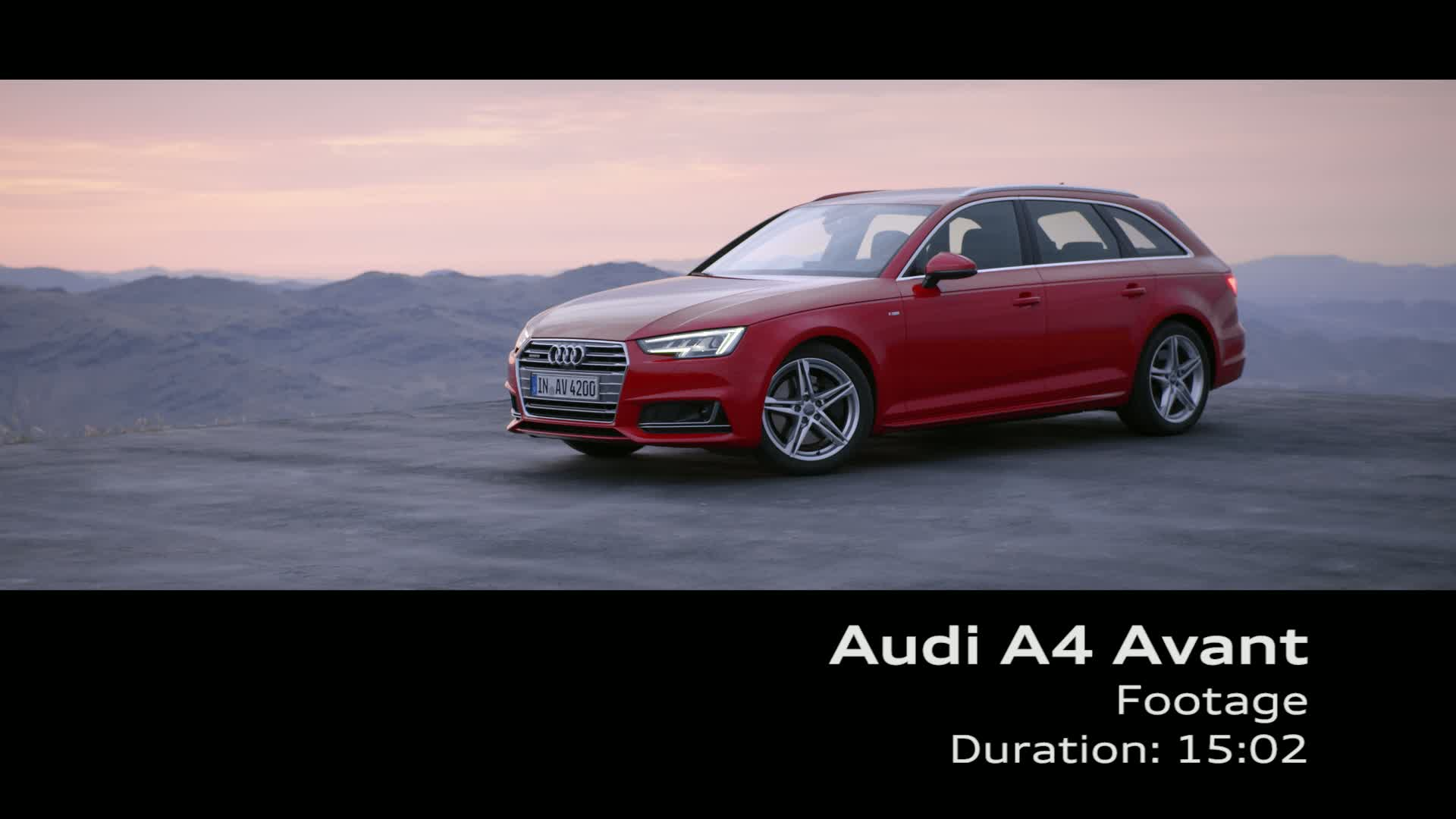 The new Audi A4 Avant - Footage