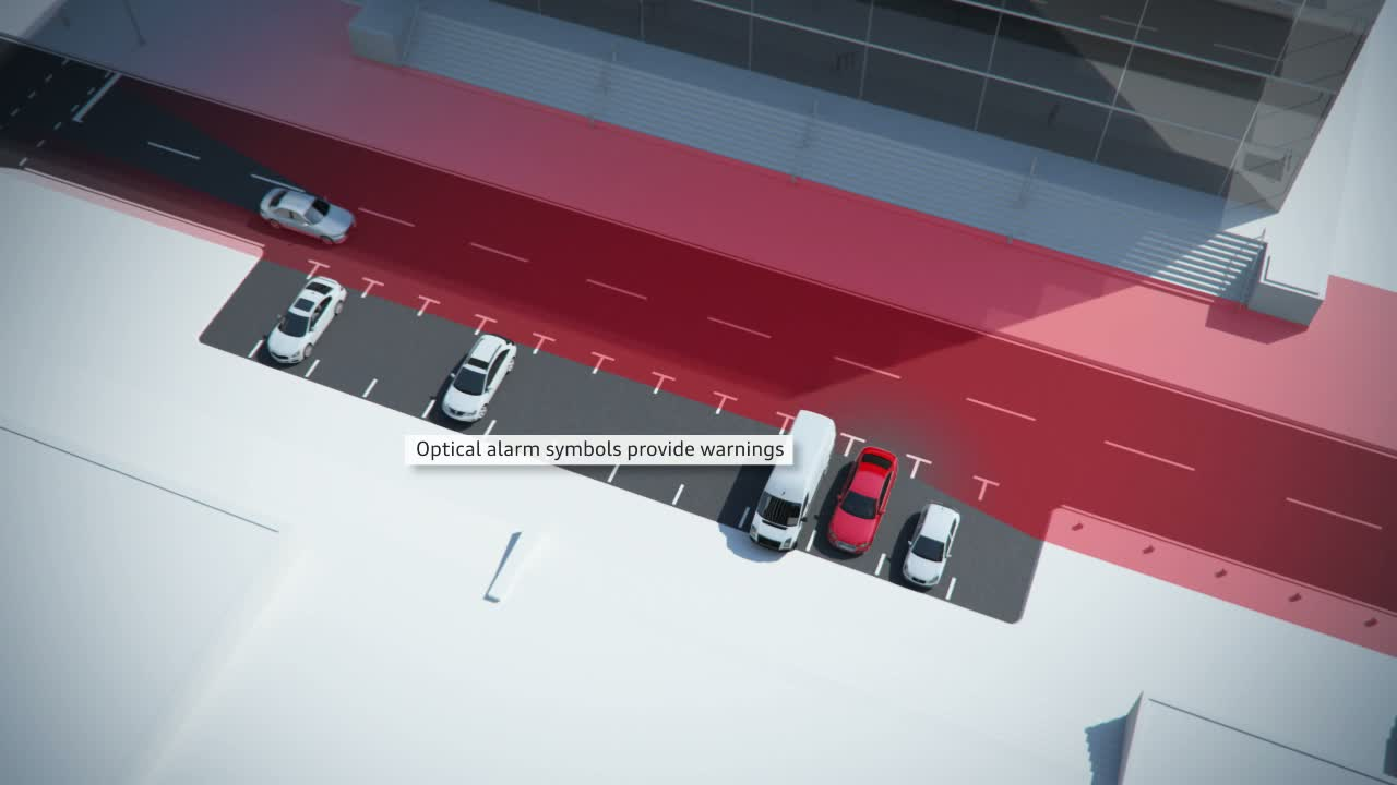 Audi A4 - Animation rear cross-traffic assist