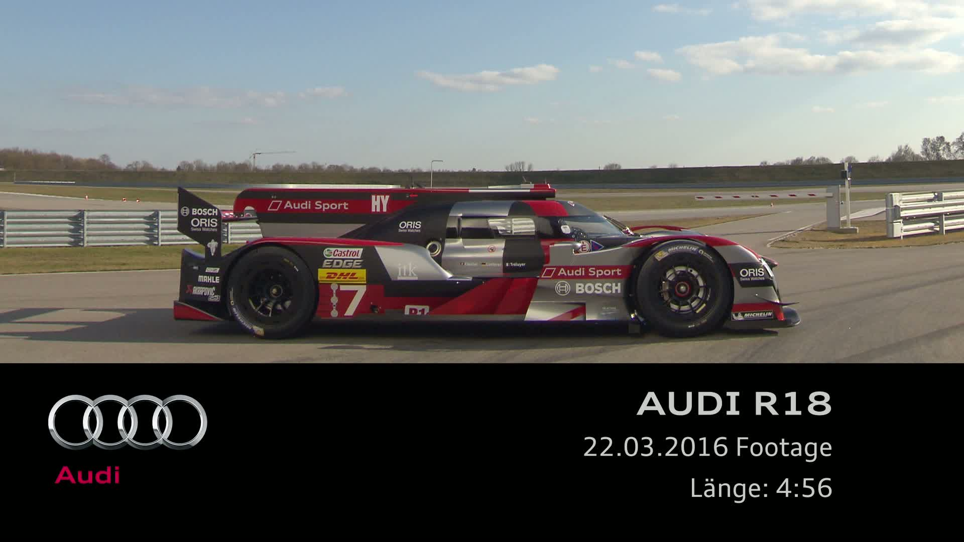 The new Audi R18 - Footage