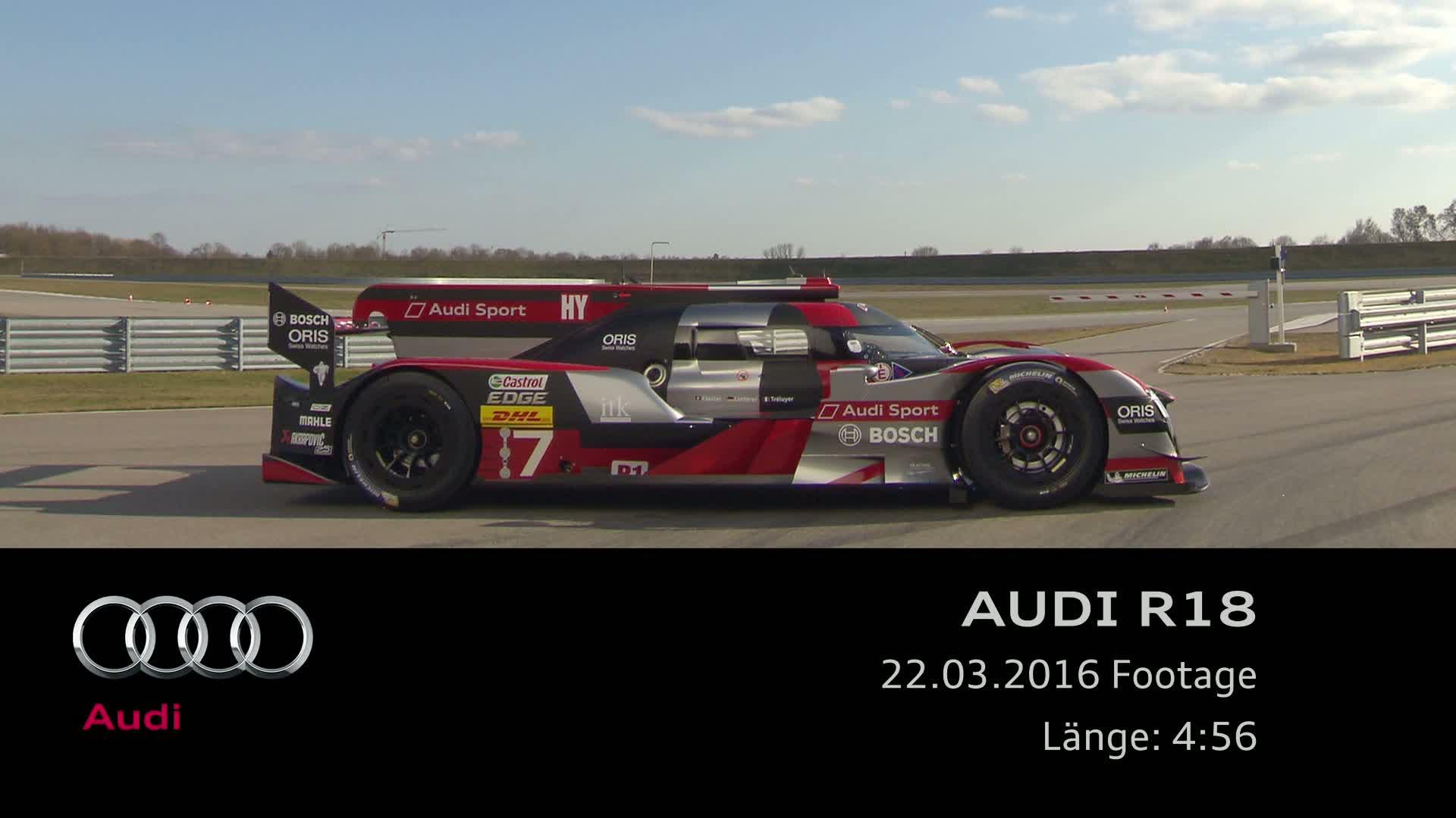 Der neue Audi R18 - Footage