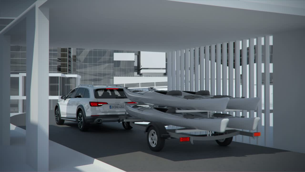 Audi A4 allroad quattro - Animation Trailer Assistant