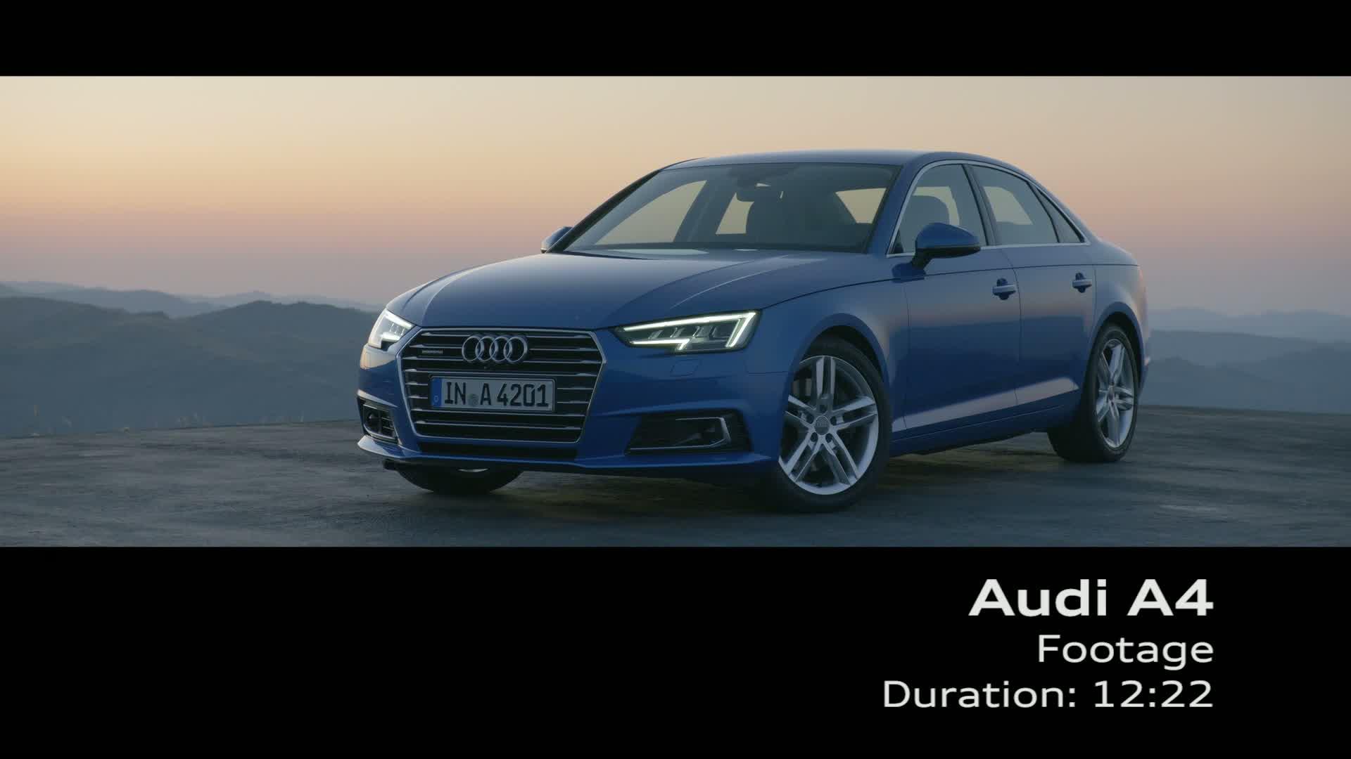 Die neue Audi A4 Limousine - Footage