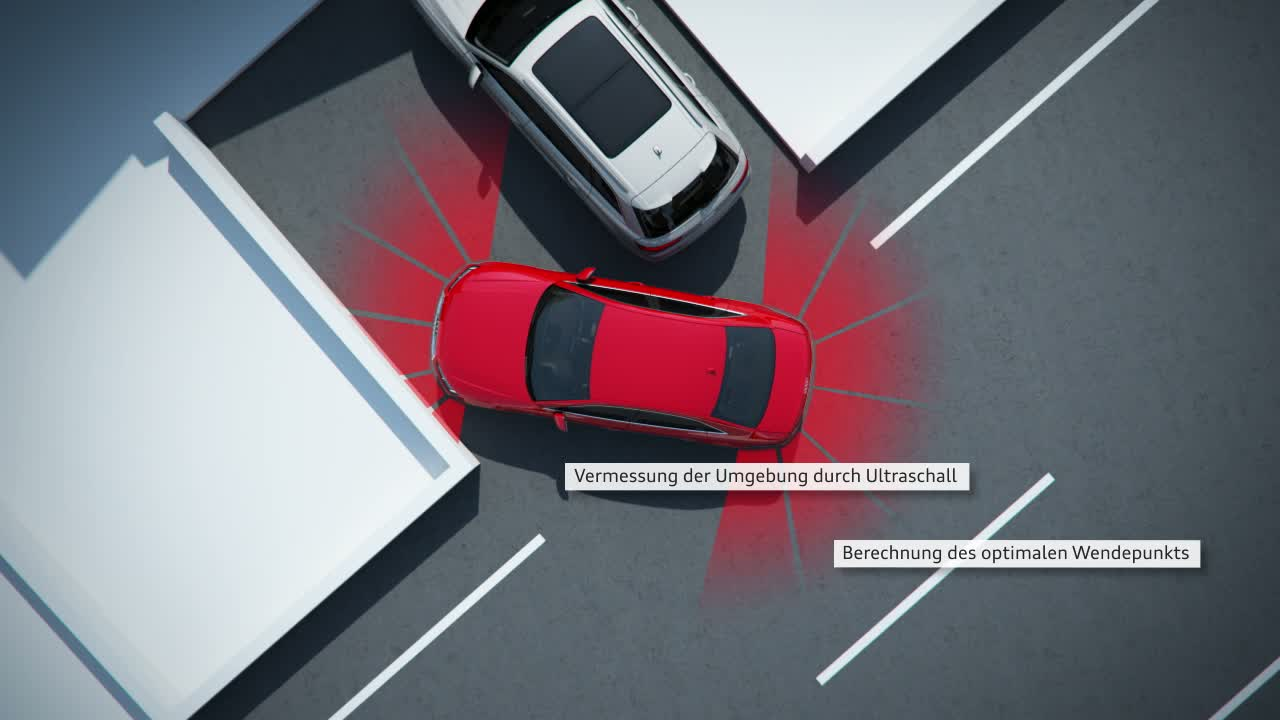 Audi A4 - Animation Parkassistent