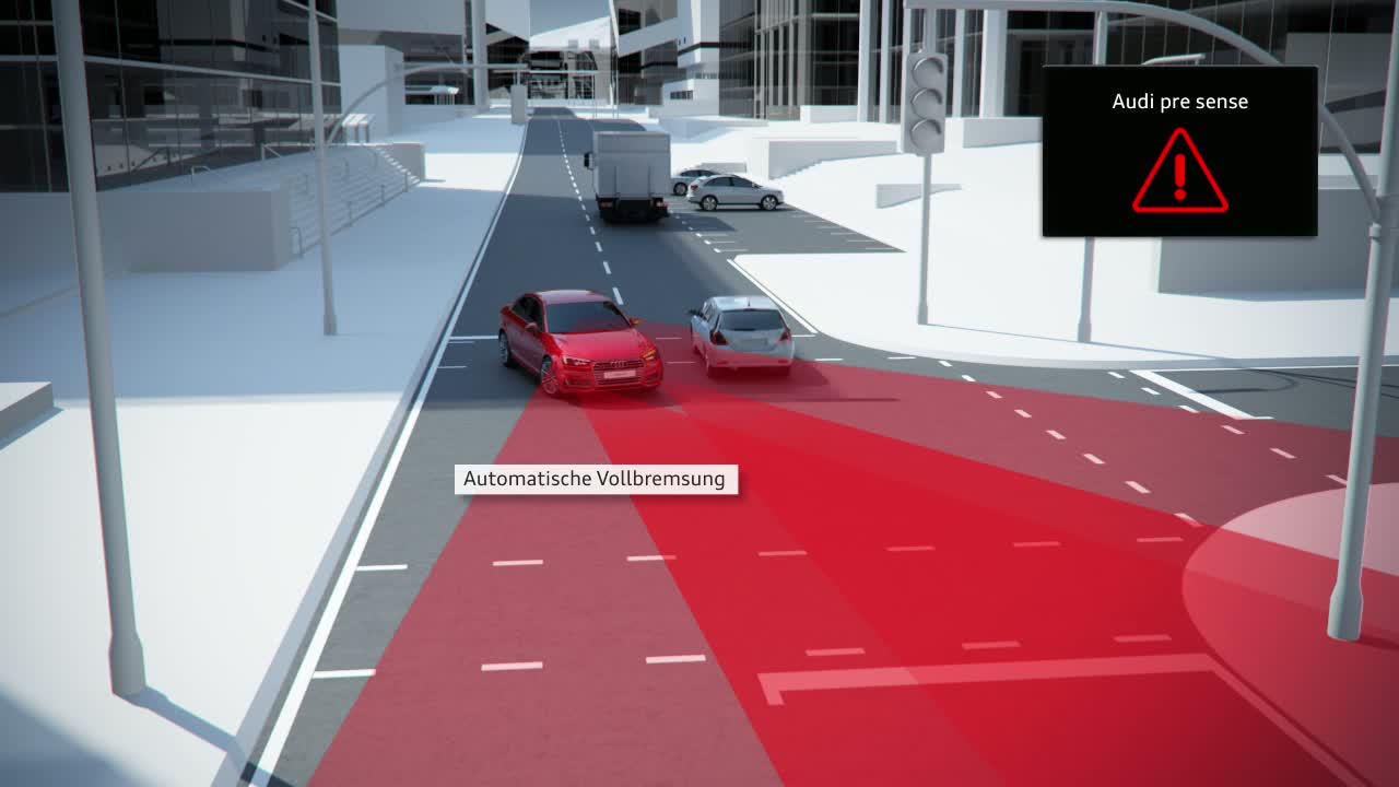 Audi A4 - Animation Abbiegeassistent