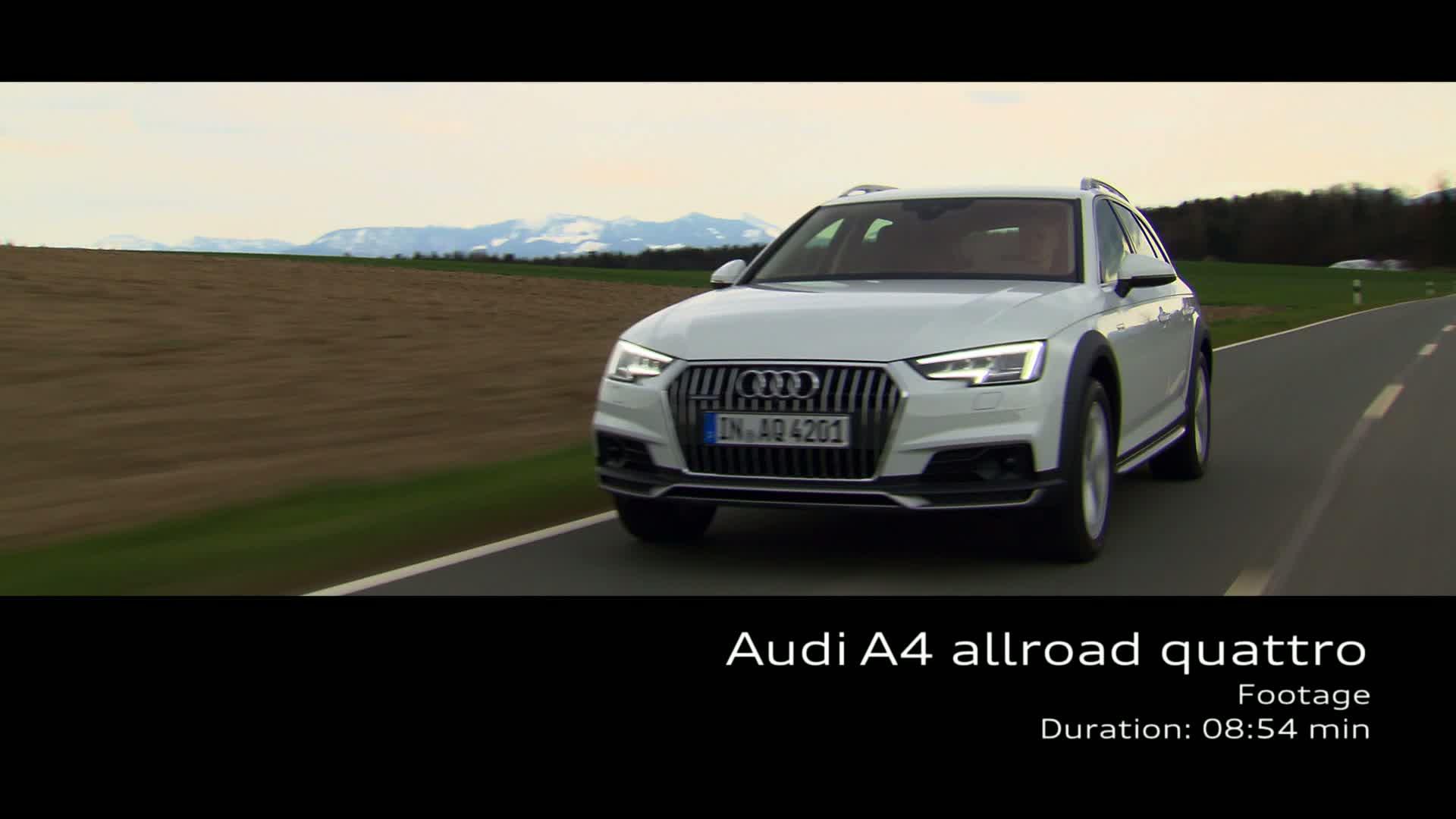 Audi A4 allroad quattro - Footage on Location