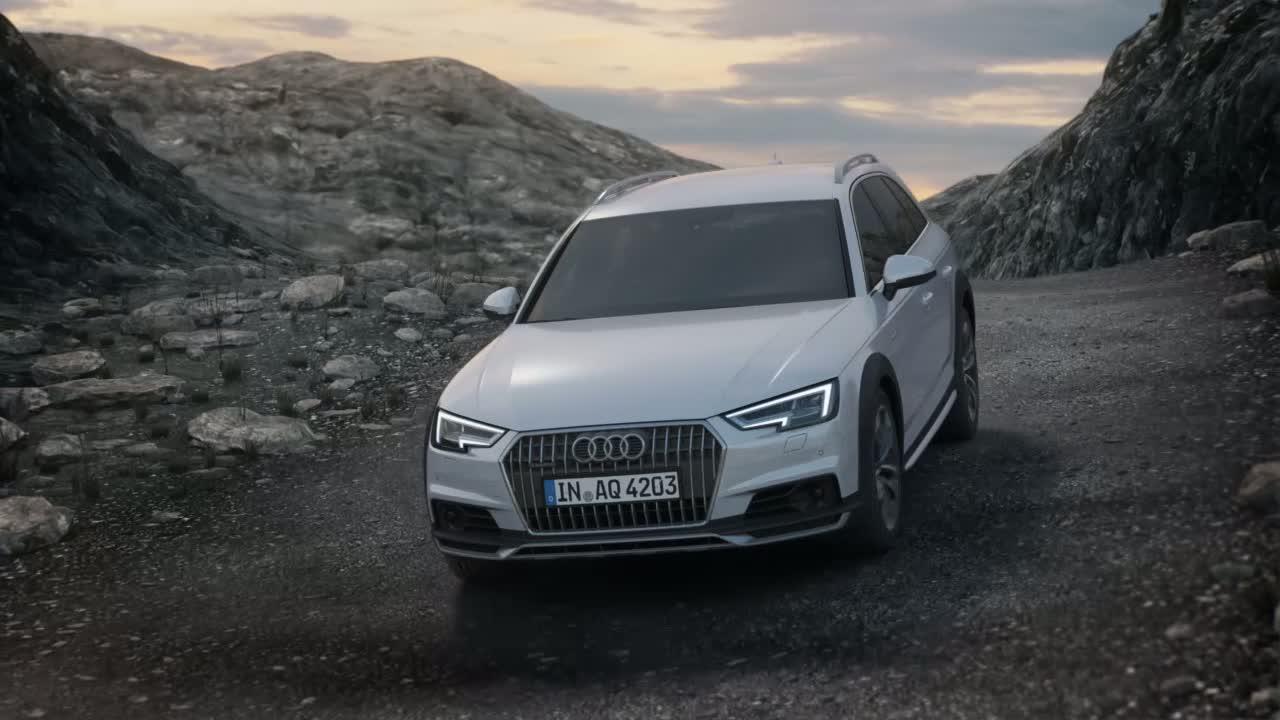 Audi A4 allroad quattro - Animation quattro-Antrieb mit ultra-Technologie