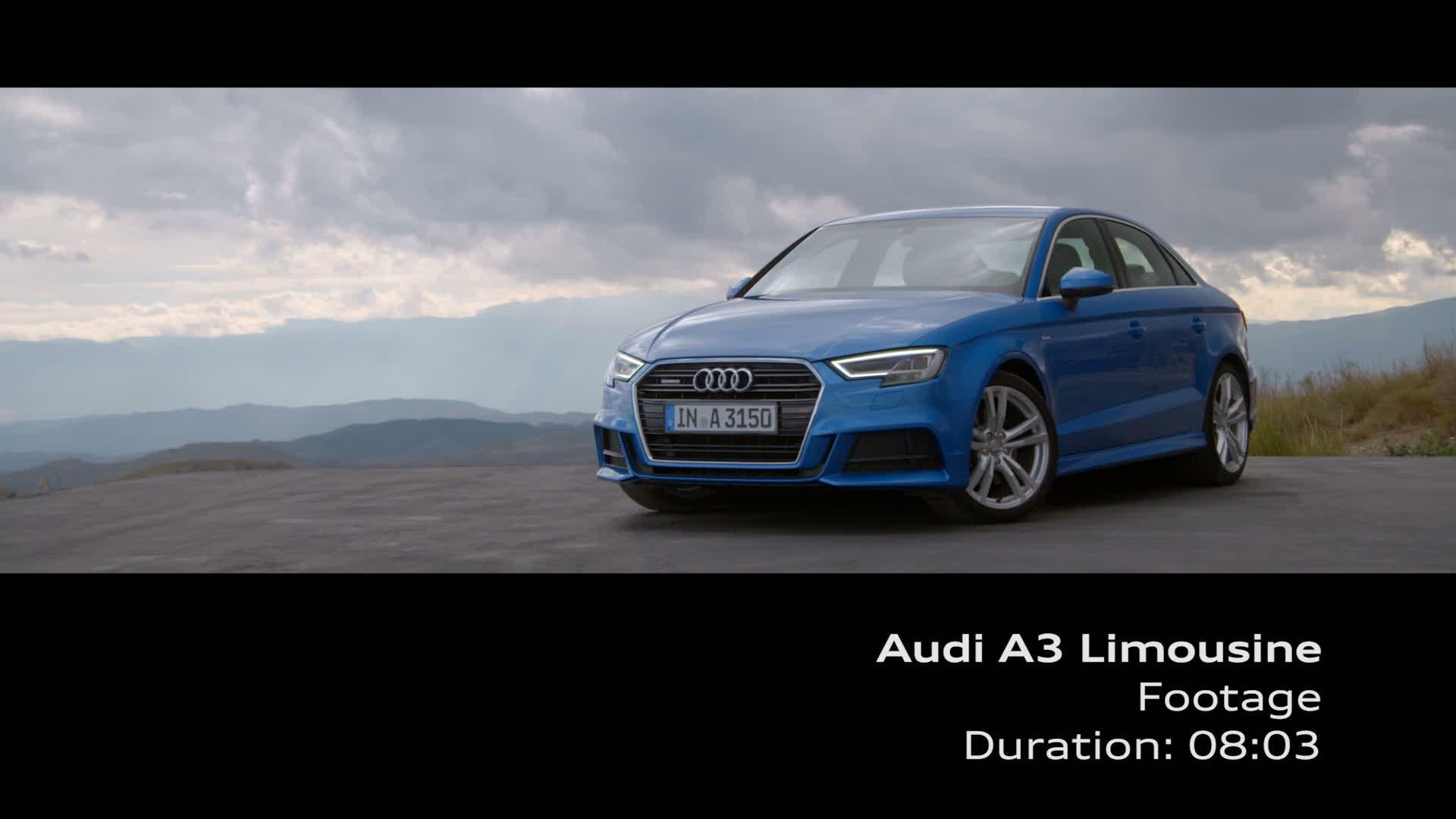 Audi A3 Limousine - Footage