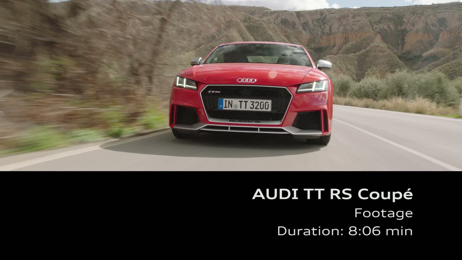 Audi TT RS Coupé - Footage