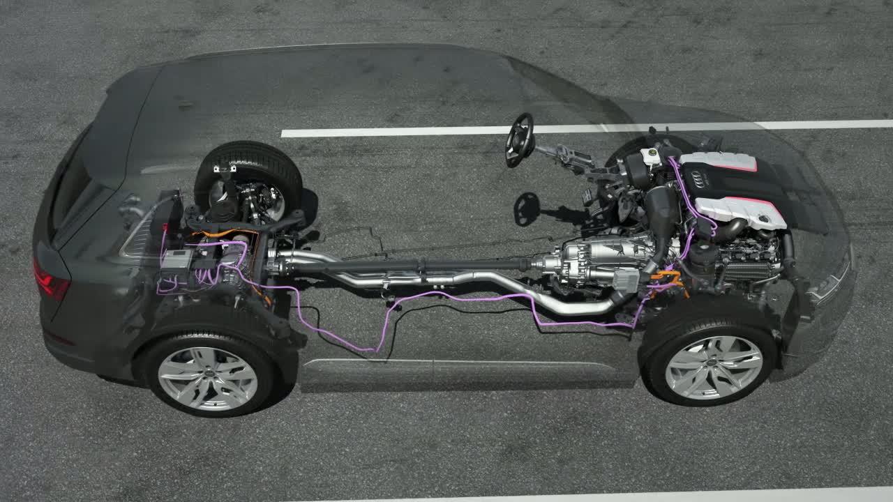 Audi SQ7 TDI - Animation EAV und 48-Volt-Teilbordnetz
