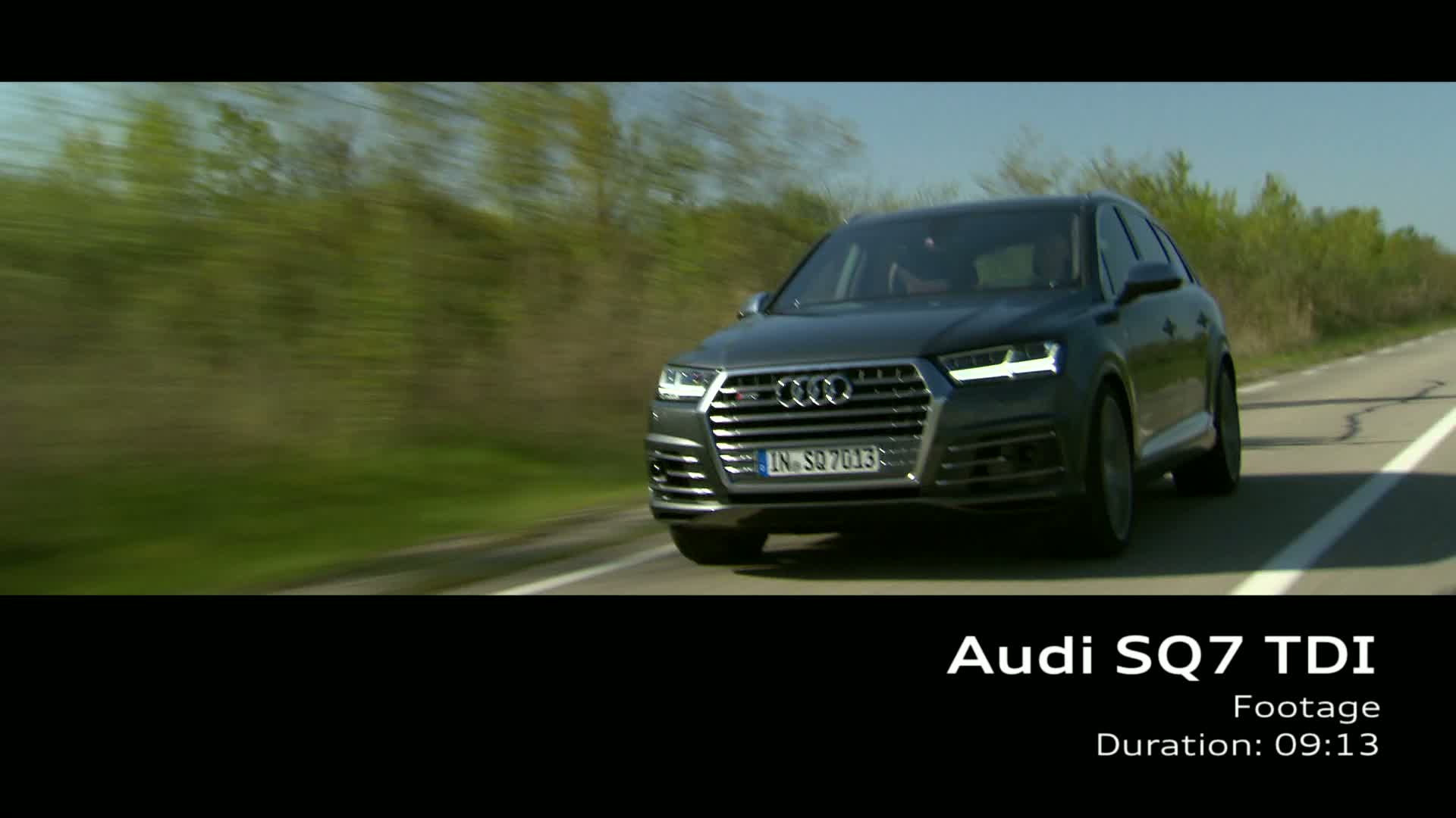 Audi SQ7 TDI - Footage on Location