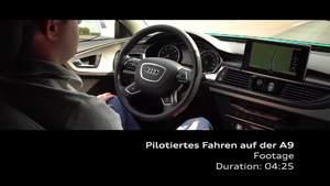 Footage - Pilotiertes Fahren im fließenden Verkehr