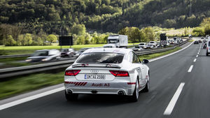 Audi piloted driving on the A9