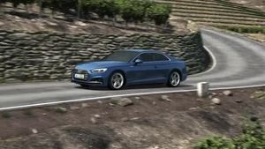 Audi A5 Coupé – Animation Suspension with damper control